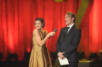 Anke Engelke and Mads Mikkelsen© EFA / Michael Tinnefeld, Agency People Image