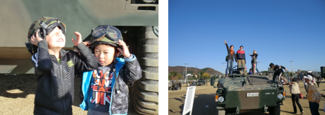 "The local youth at Himeji SDF base & ""Never expected to conquer a tank in Japan!"""