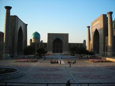 Sunset at Registan Square, Samarkand