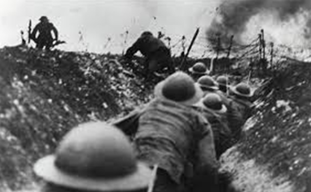 Soldiers about to 'go over the top' at the Battle of the Somme  (Source: telegraph.co.uk)