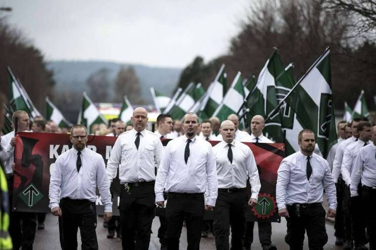 Nordic Resistance Movement march in Sweden.jpg