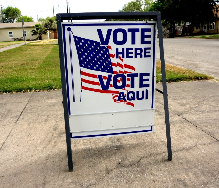 vote_here_sign_in_taft_texas